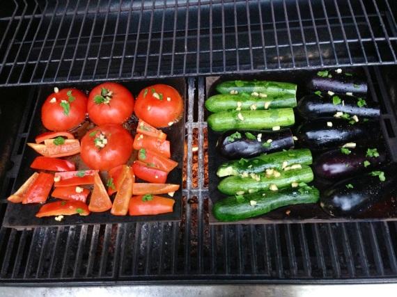 Summer Veggies on Slate